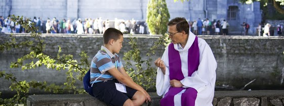 Priest Hearing Confession